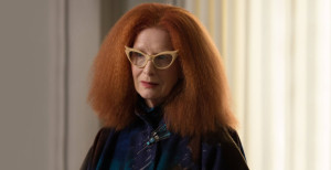 Frances Conroy was spectacular once more in taking on the role of Myrtle Snow, the kooky head of the witch council.