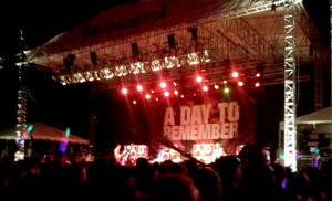 ADTR fans had to wait until sundown for the popular metalcore band to perform. The performance was a favorite of the night.