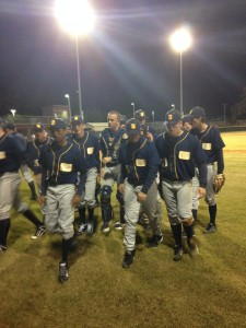 Steinbrenner walks back towards the dugout after the end of the third inning,