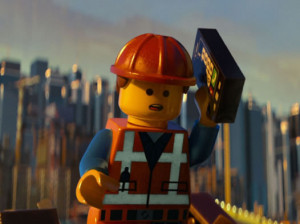 Emmet (voiced by Chris Pratt), the exceptionally average and completely ordinary protagonist for the film.