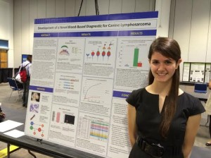 Junior Goldie Shaw exhibits her science project at the STEM fair held on Feb. 10-12 at the Tampa Convention Center. Shaw researched the development of lymphoma in dogs and is expected to advance to the ISEF competition scheduled to take place between May 6-11 in Los Angeles, CA.