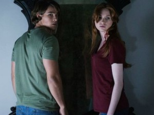 Gillan (Kaylie) and Thwaites (Tim) star in this psychological horror film about two individuals haunted by a powerful mirror.
