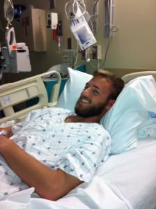 Senior Aaron Wilson following his kidney transplant at Tampa General Hospital.