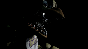 Chica makes a come back in FNAF 2, but doesn't look all that appealing.