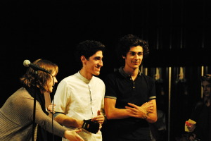 """Ricardo Morales and Jacob Hales won first place with their original song, """"Mother Tongue""""."""