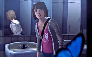 """The """"butterfly effect"""" is referenced in the game as Maxie finds one right before she sees a girl get shot in the bathroom."""